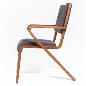 Ahsap Kollu Dosemeli Retro Sandalye NEO-770005T