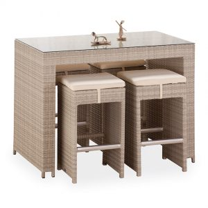 Rattan Bar Masasi ve Tabureleri NEO-880122T